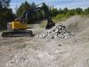 MB Crushing Bucket on Volvo ECR305CL